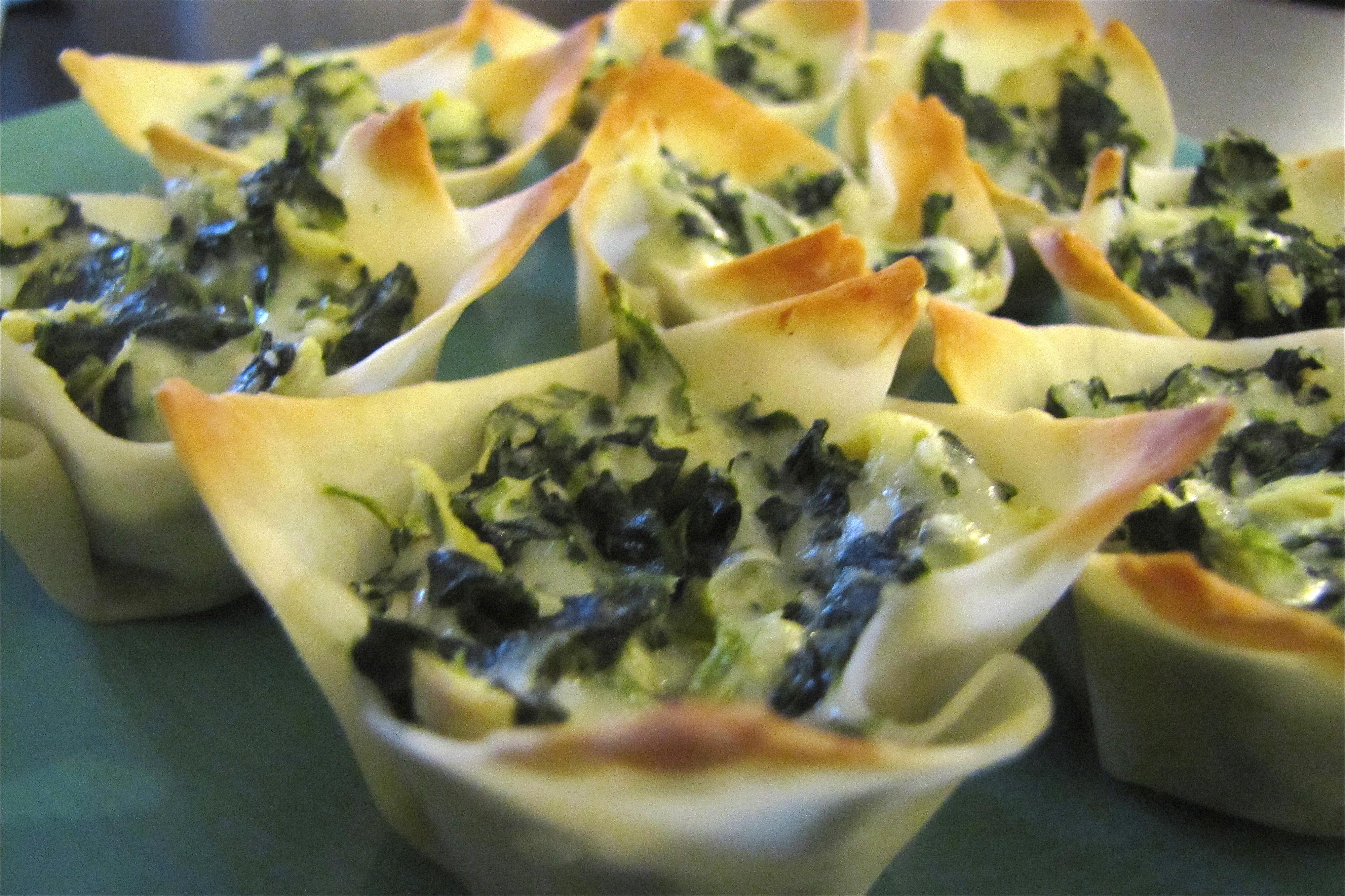 Spinach Artichoke Cups Recipes — Dishmaps